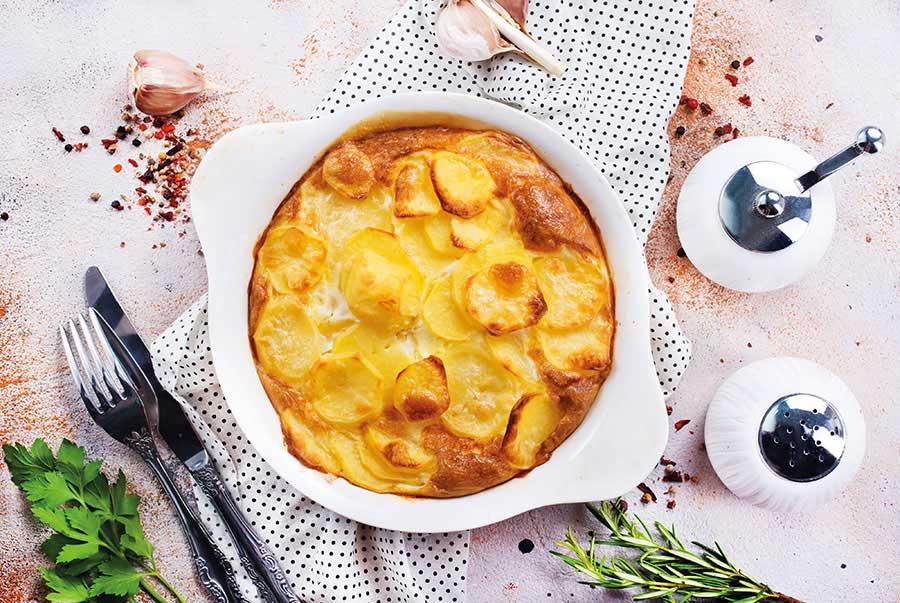 Σουφλέ με πατάτες και μανιτάρια
